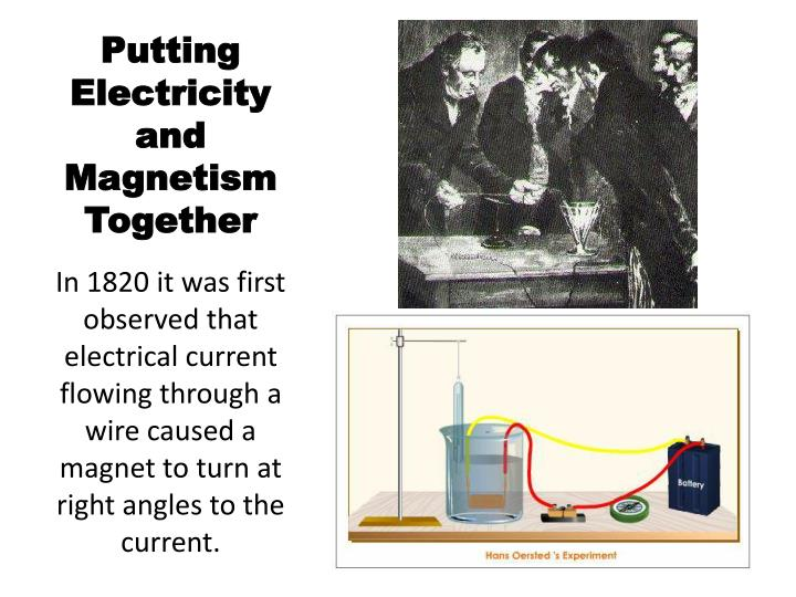 Putting Electricity and Magnetism Together