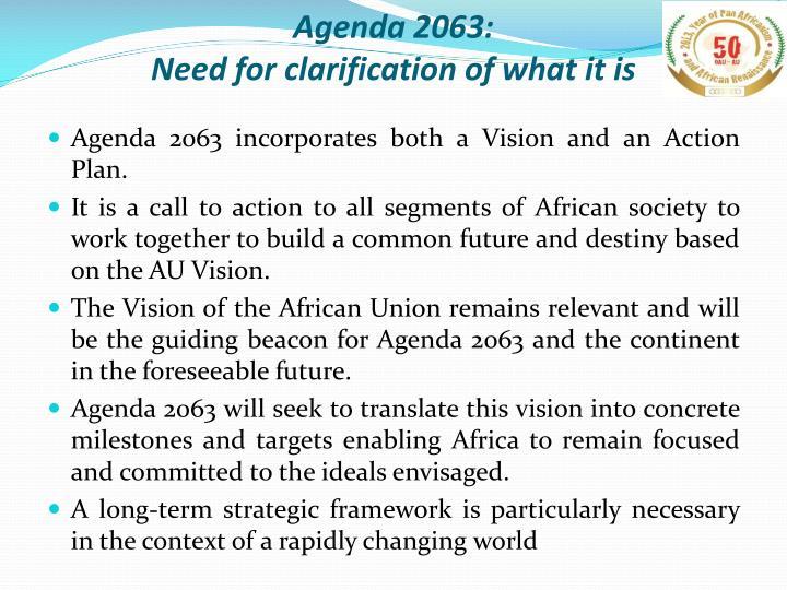 Agenda 2063: