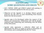 agenda 2063 some questions and issues