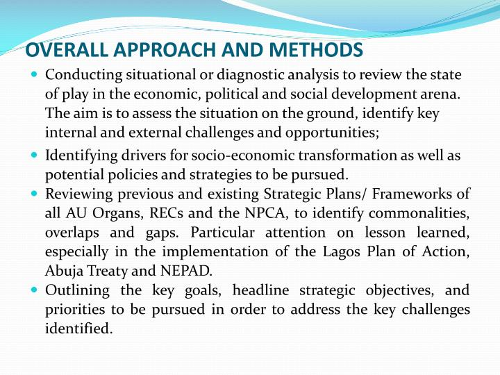 OVERALL APPROACH AND METHODS