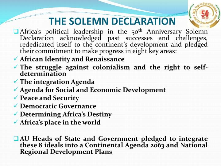 THE SOLEMN DECLARATION