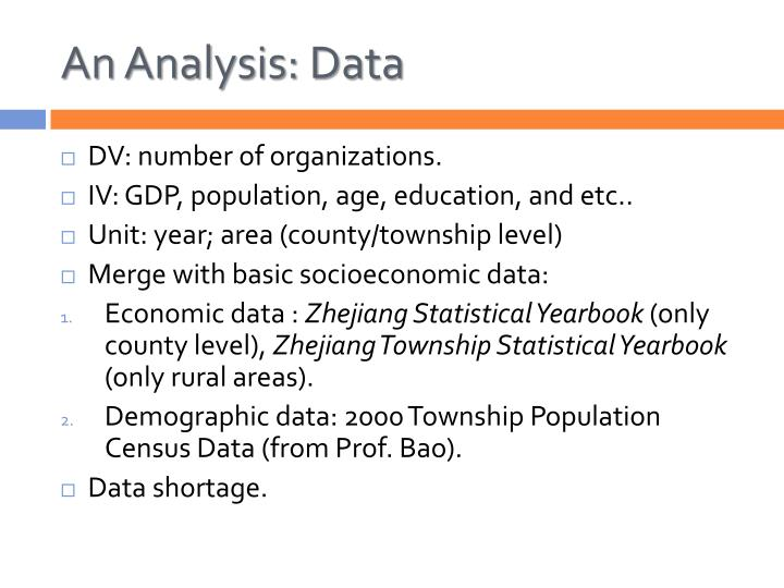 An Analysis: Data
