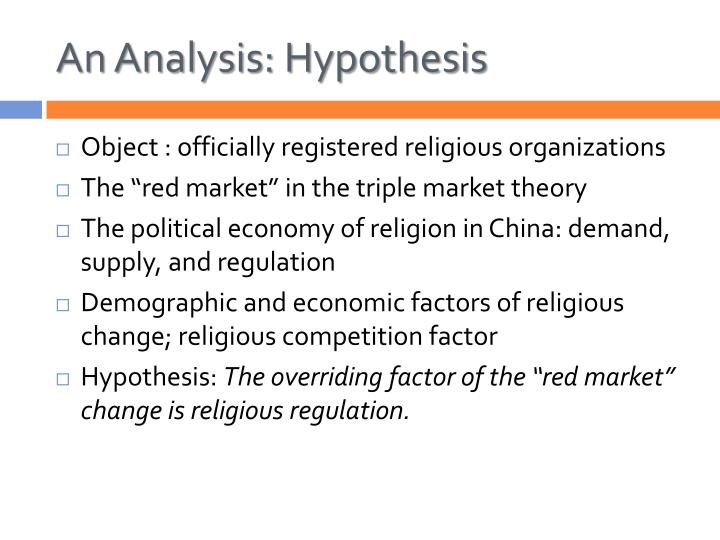 An Analysis: Hypothesis