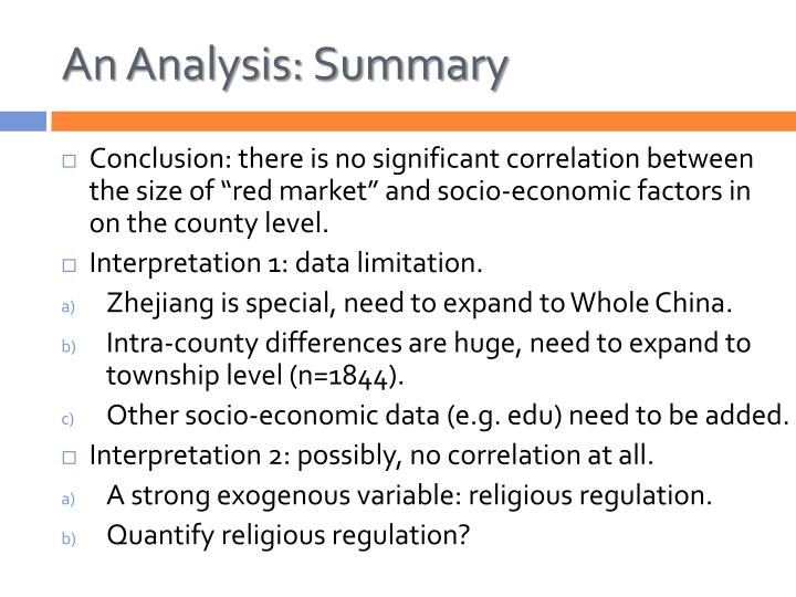 An Analysis: