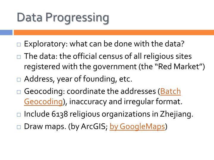Data Progressing