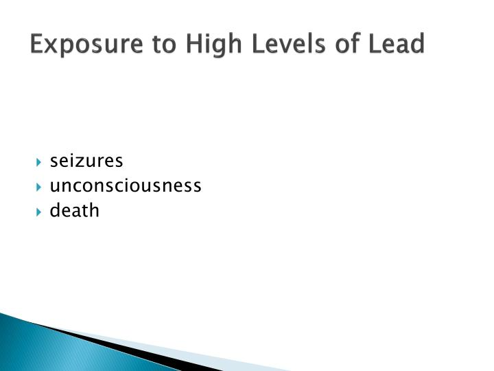 Exposure to High Levels of Lead