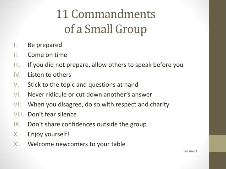 11 Commandments