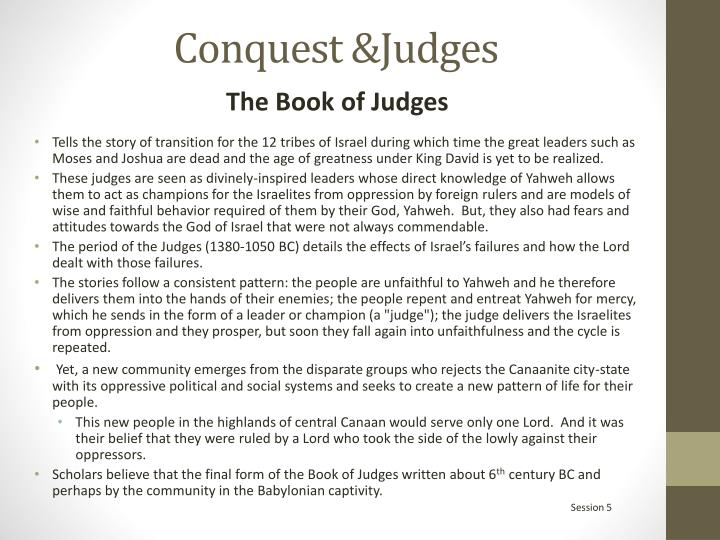 Conquest &Judges