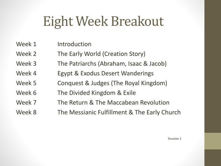 Eight week breakout