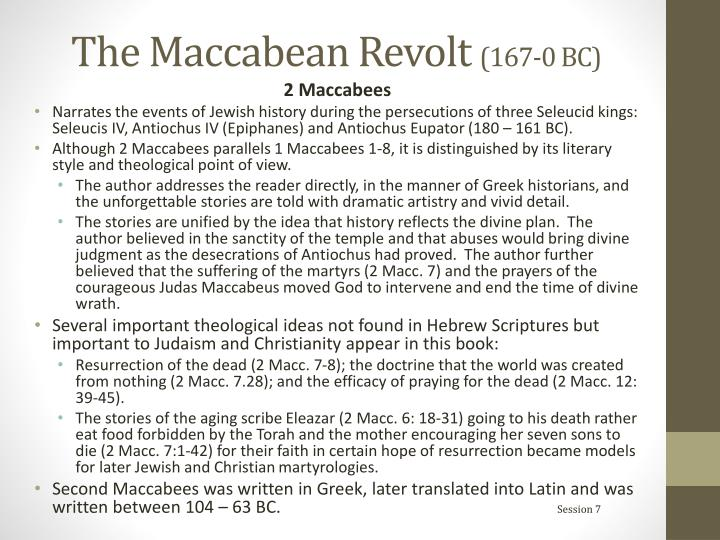 The Maccabean Revolt