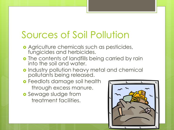 Sources of Soil Pollution