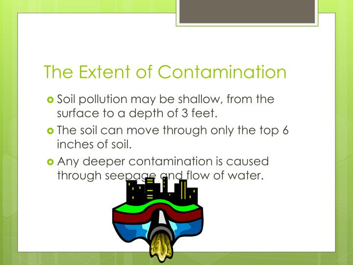 The Extent of Contamination