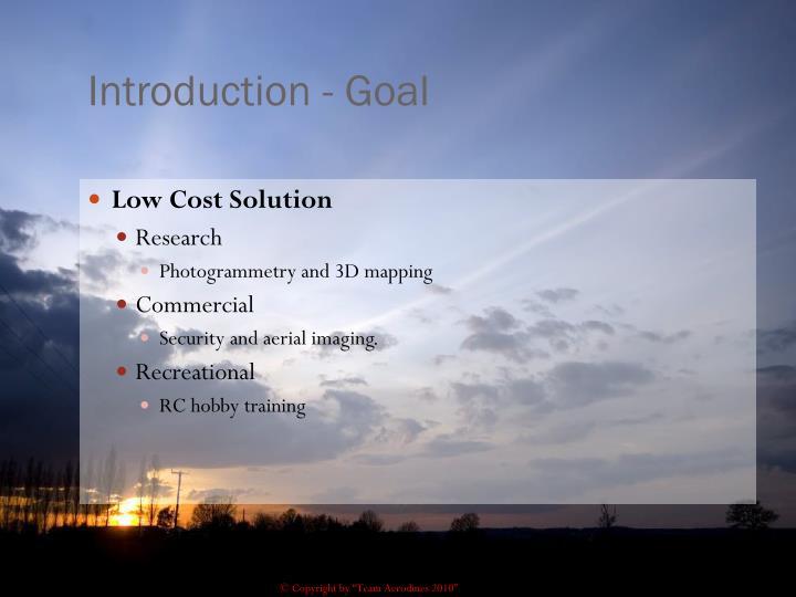 Introduction - Goal
