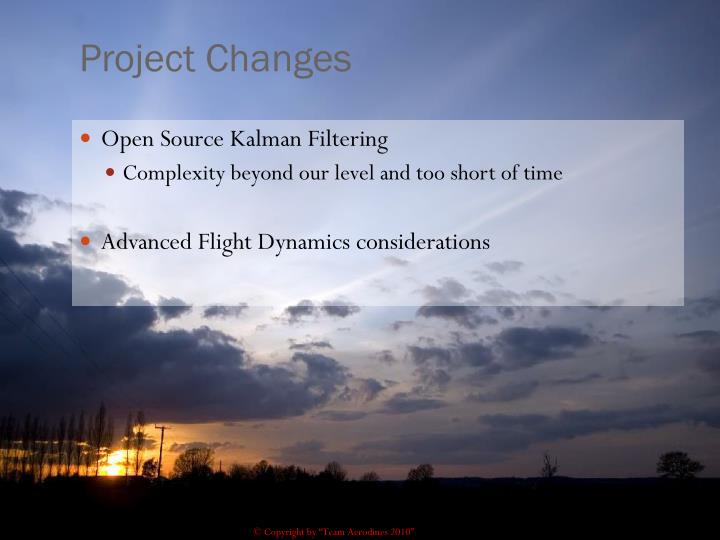 Project Changes