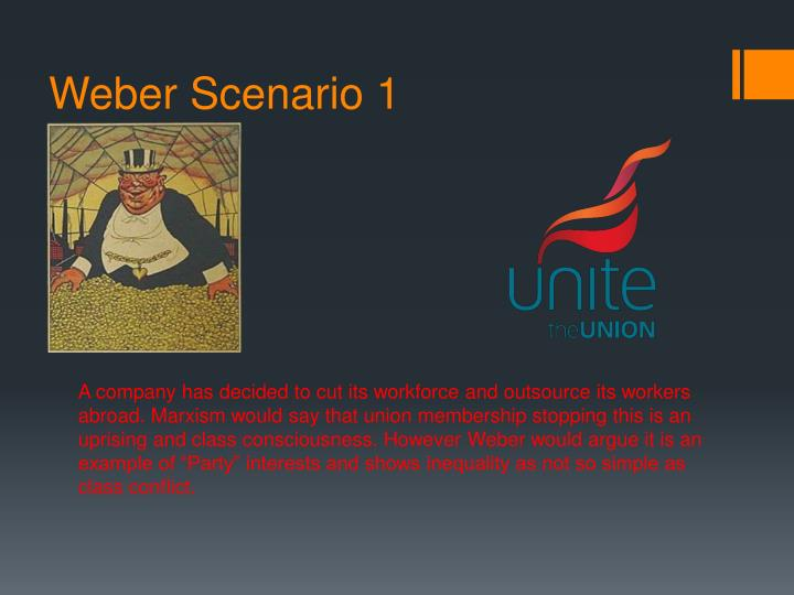 Weber Scenario 1