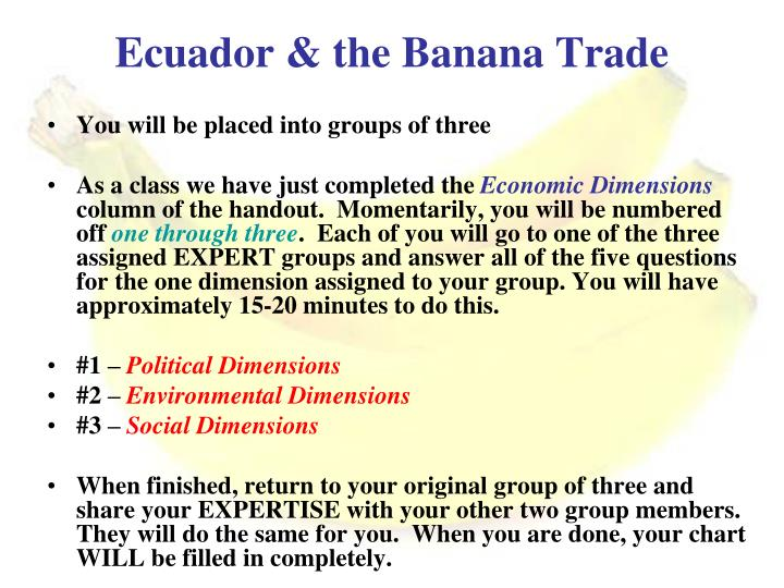 Ecuador & the Banana Trade
