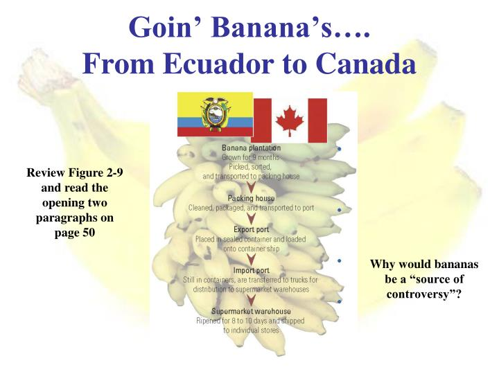 Goin' Banana's….