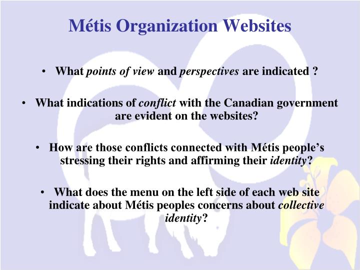 Métis Organization Websites