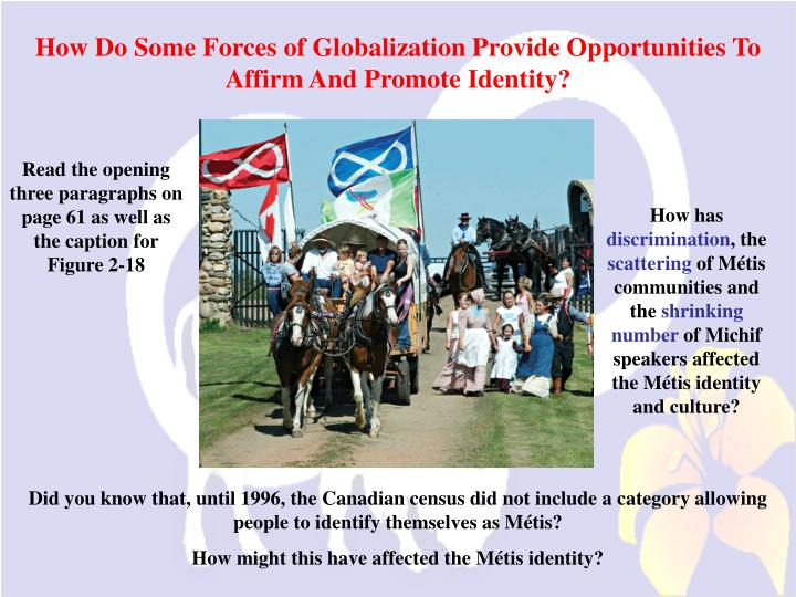 How Do Some Forces of Globalization Provide Opportunities To Affirm And Promote Identity?