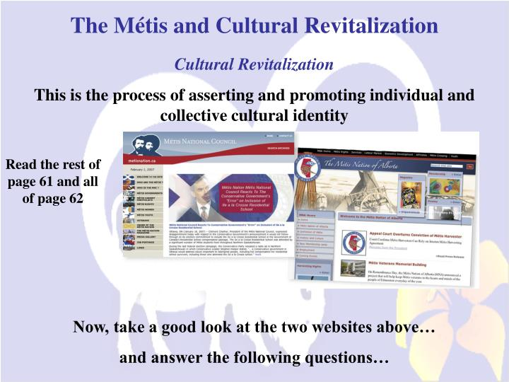 The Métis and Cultural Revitalization
