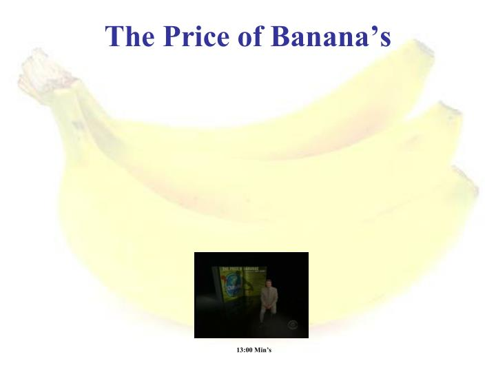 The Price of Banana's