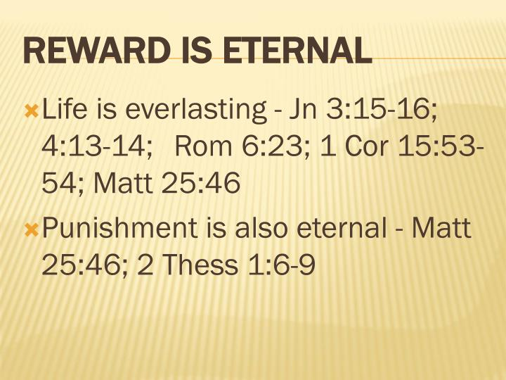 Life is everlasting -