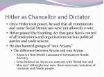 hitler as chancellor and dictator