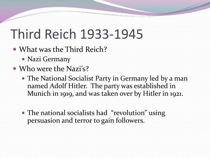 Third Reich 1933-1945