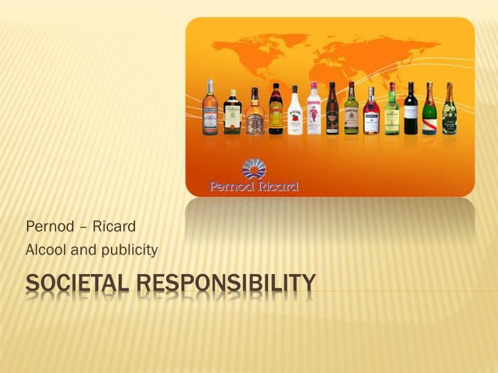 Pernod ricard alcool and publicity