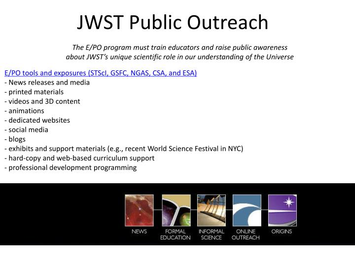 JWST Public Outreach