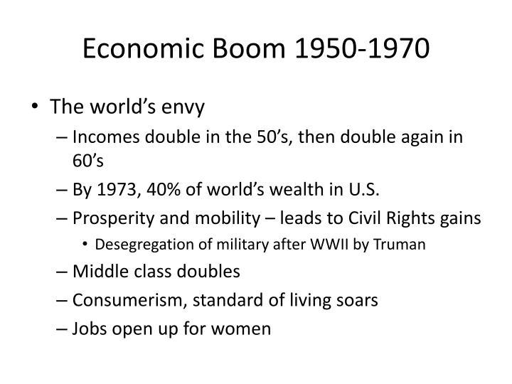 Economic Boom 1950-1970