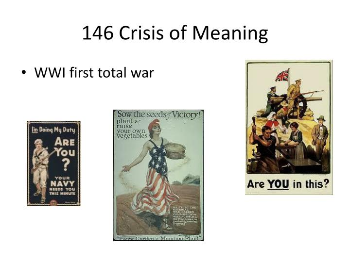 146 Crisis of Meaning