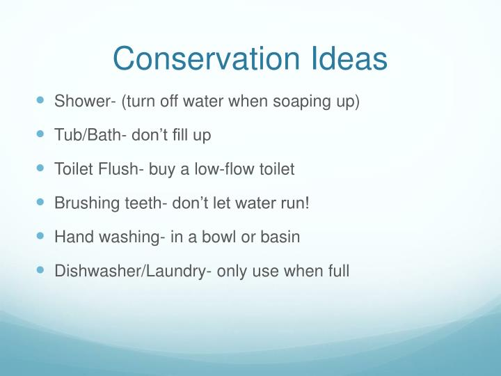 Conservation Ideas