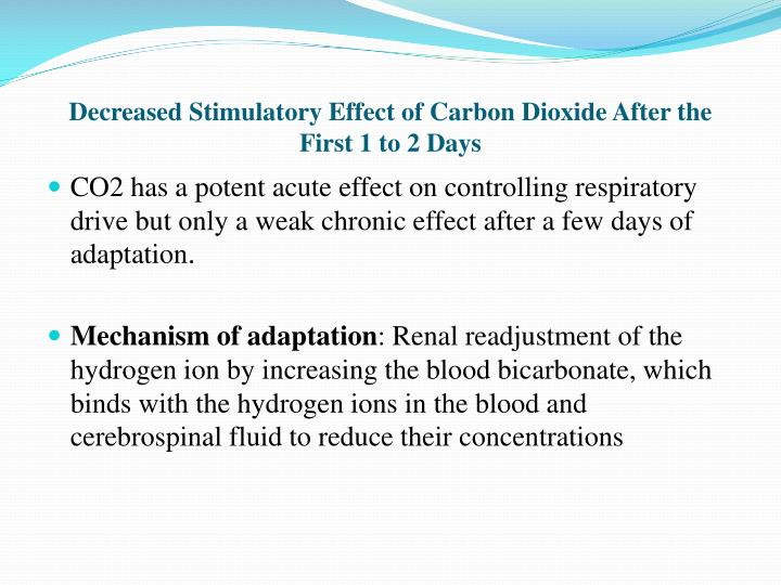 Decreased Stimulatory Effect of Carbon Dioxide After the First 1 to 2 Days