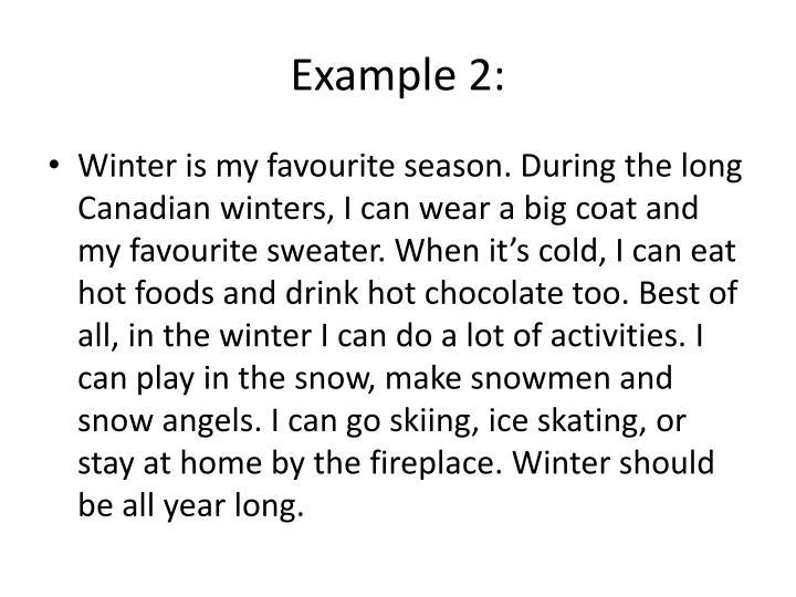 My Favorite Season Essay