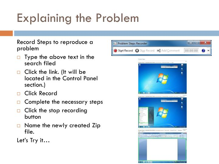 Explaining the Problem