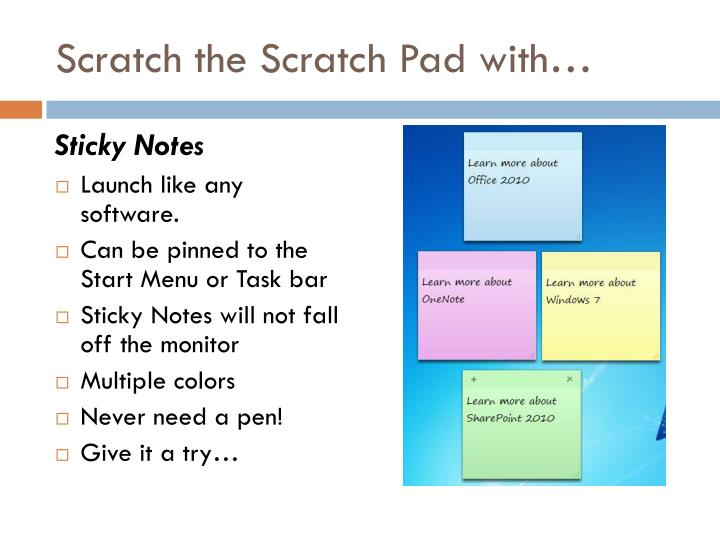 Scratch the Scratch Pad with…