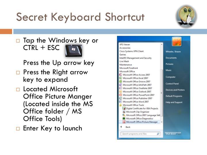 Secret Keyboard Shortcut