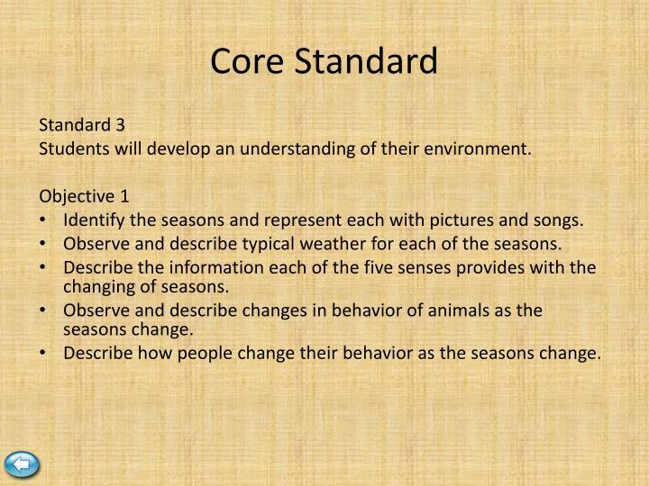 Core Standard