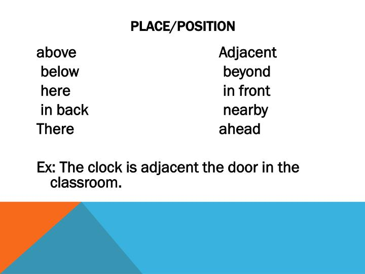 Place/Position