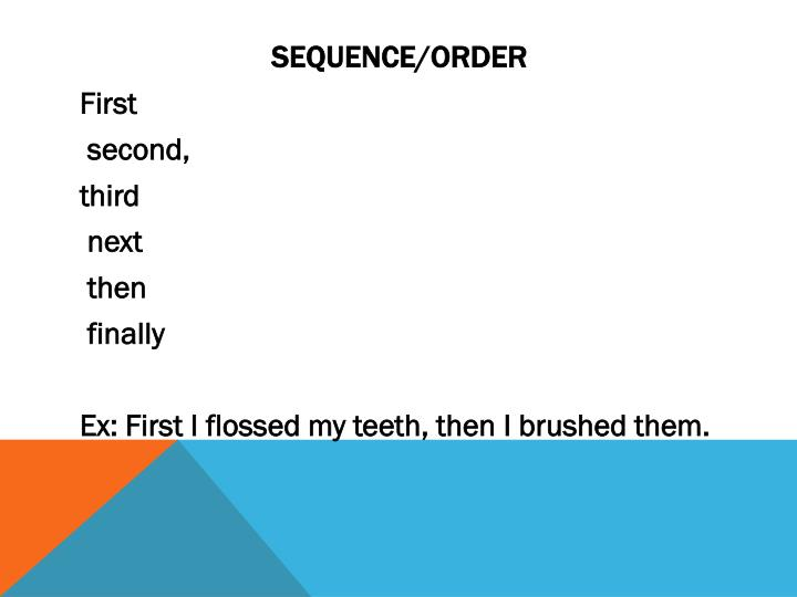 Sequence/Order