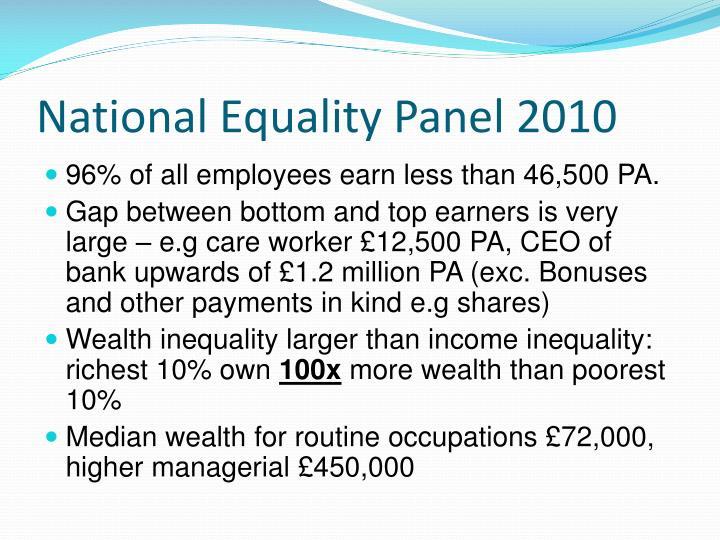 National Equality Panel 2010