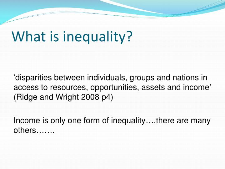 What is inequality?