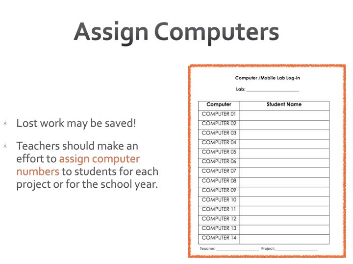 Assign Computers