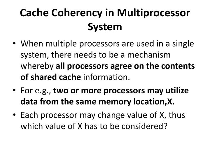 Cache Coherency in Multiprocessor System