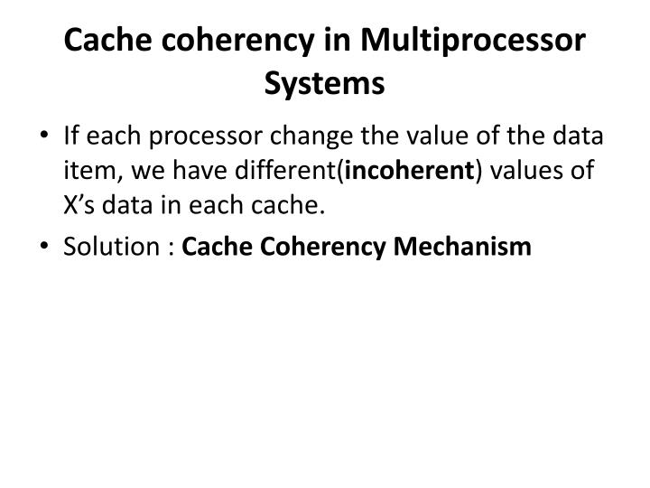 Cache coherency in