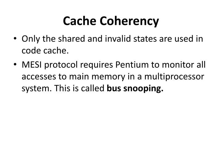 Cache Coherency