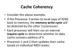cache coherency4