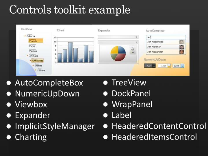 Controls toolkit