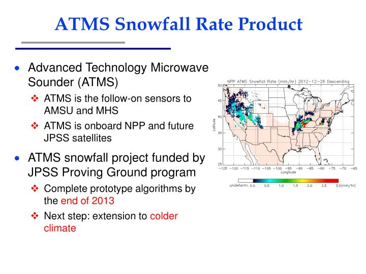 ATMS Snowfall Rate Product